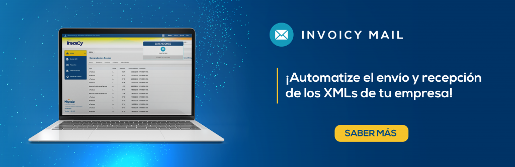 computadora con InvoiCy Mail